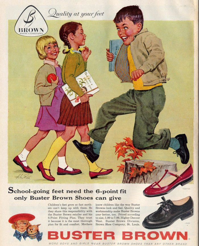 Buster Brown ad copy